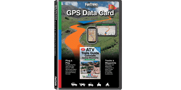 GPS Data Card Colorado Central Mountains ATV Trails