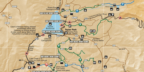 Taylor Park Colorado Map.Atv Trails Guide Colorado Taylor Park Crested Butte Funtreks