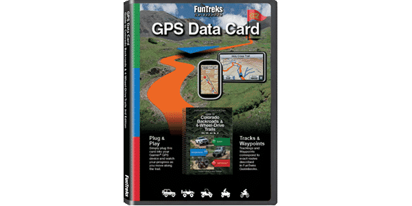 GPS Data Card Guide to Northern Colorado Backroads & 4-Wheel-Drive Trails